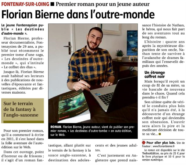 Article de la République du Centre (Loiret) du 6 avril 2020